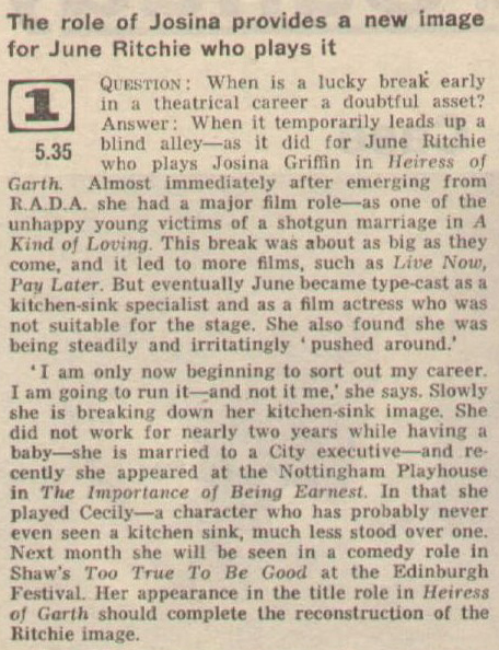 Aug 14th 1965 Radio Times Garth