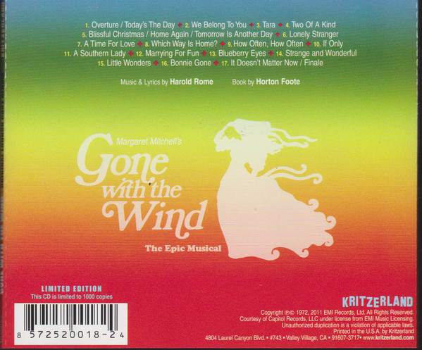 Gone with the Wind CD Rear Cover