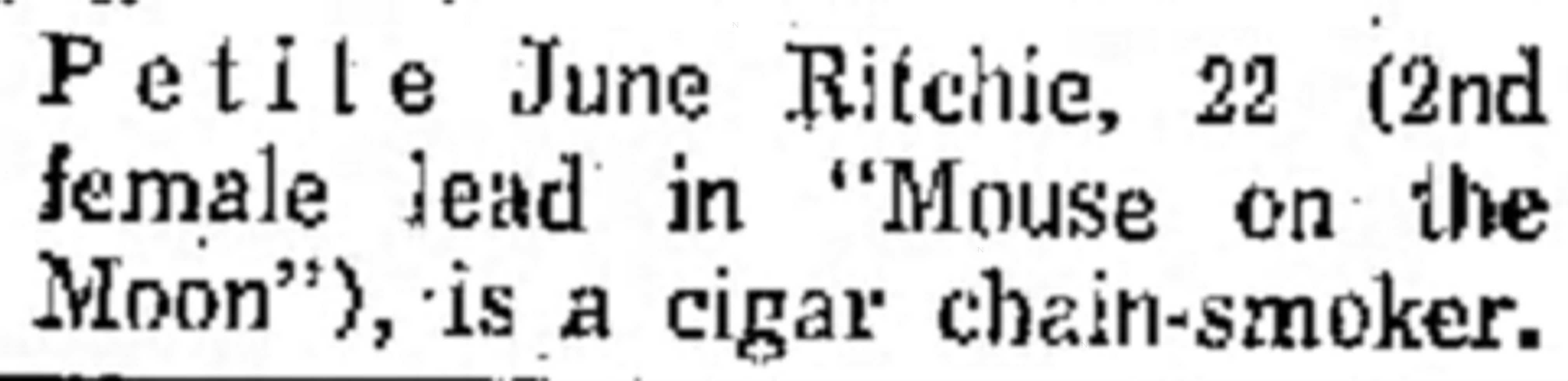 June Ritchie cigar smoker