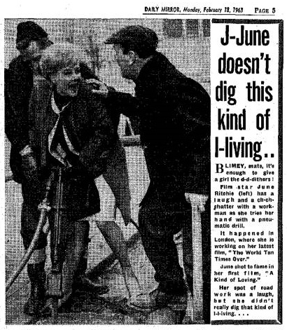 Filming 'The World Ten Times Over' - Daily Mirror, 18th February 1963