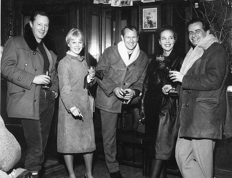Producer Michael Luke, June RItchie, Edward Judd and Sylvia Sim with the director