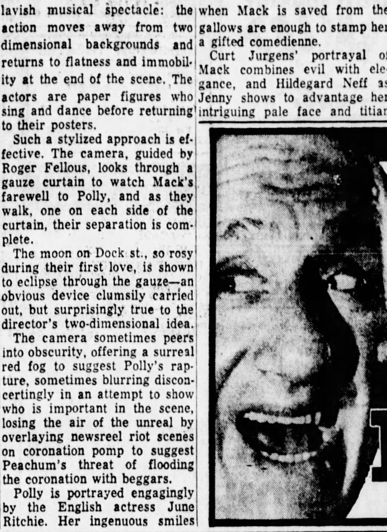 Review from The Philadelphia Inquirer 22 October 1964